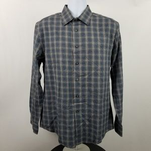 Jos A Bank Reserve Tailored Fit Gray Blue Plaid L